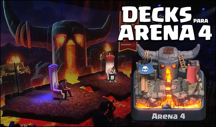 Decks para Arena 4