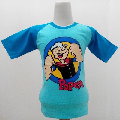 Kaos Raglan Anak Karakter Popeye 1 Biru