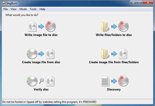 تحميل برنامج نسخ الملفات ImgBurn للكمبيوتر 2017 مجانا