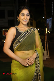 Actress Regina Stills in Green Saree at Vivaha Bhojanambu Restaurant Launch  0075.JPG