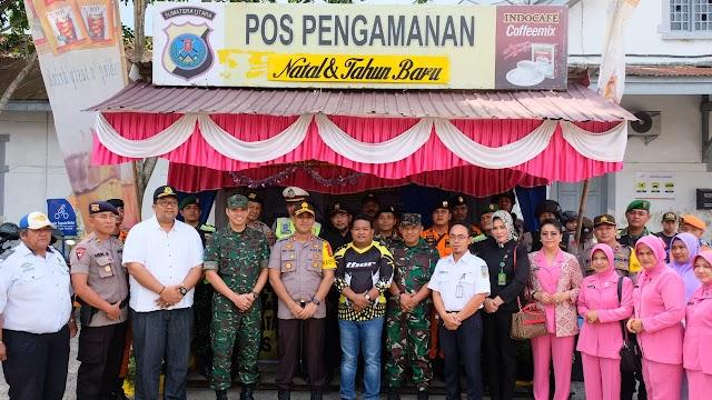Kapolres Tanjungbalai Tinjau Pos Pam Natal dan Tahun Baru
