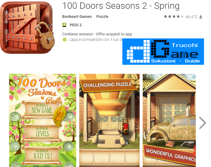 Soluzioni 100 Doors Seasons 2 - Spring di tutti i livelli | Walkthrough guide
