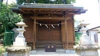 日野市の程久保神明社 社殿