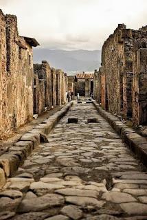 Calles de las ruinas de Pompeya