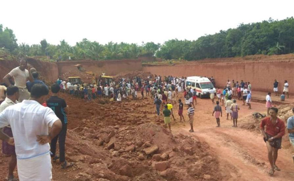 Two workers killed in quarry mishap in Kozhikode, News, Local-News, Accidental Death, Dead, Dead Body, Obituary, Police, Kerala.