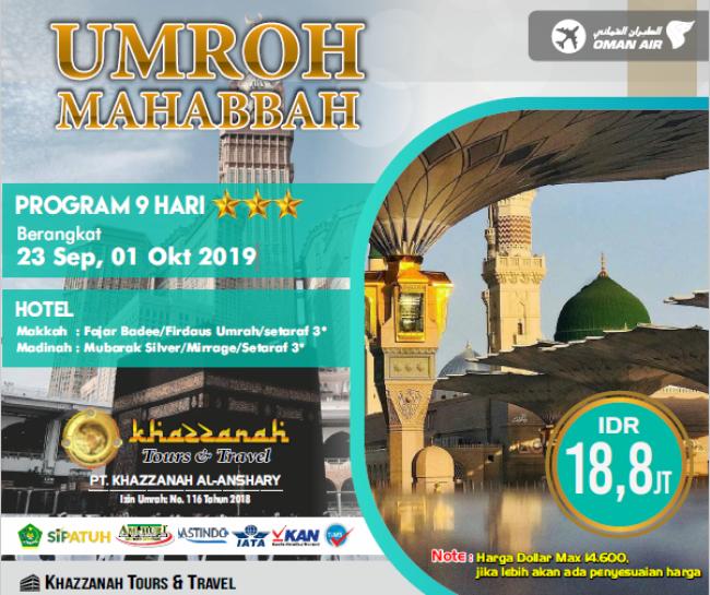Travel umroh Haji Khazzanah