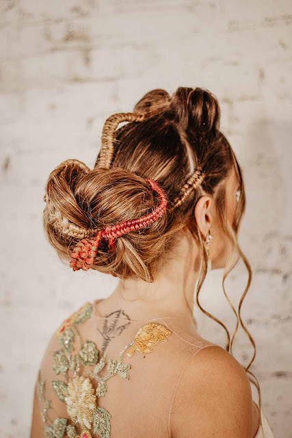 peinados de novia recogidos con trenzados