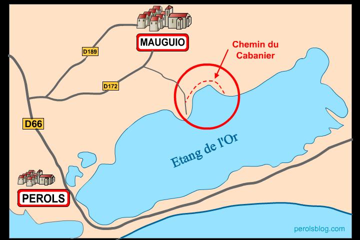 Chemin du Cabanier à Mauguio