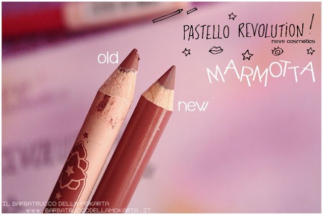 marmotta differenze BioPastello labbra Neve Cosmetics  pastello revolution