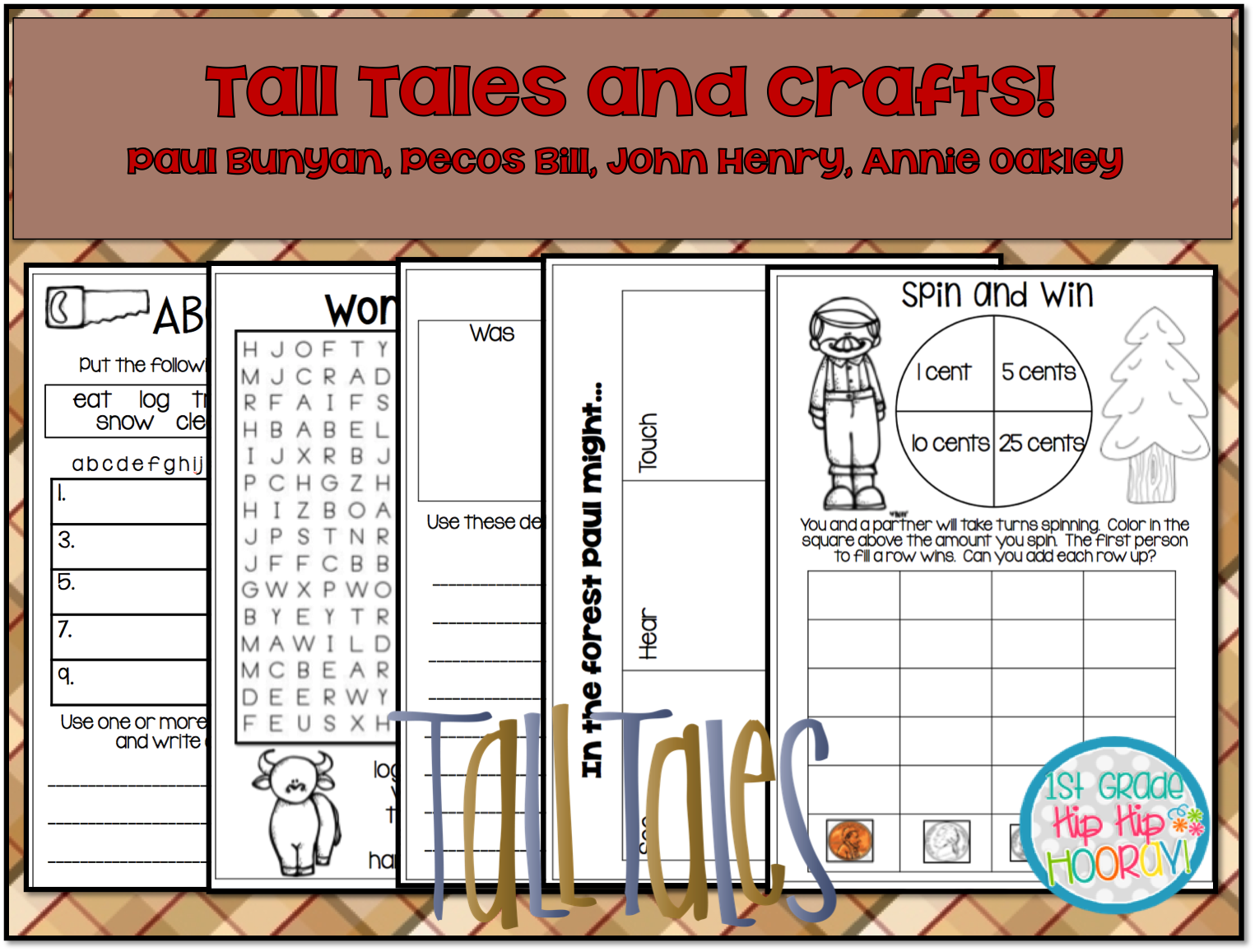 1st Grade Hip Hip Hooray Tall Tales For The Primary Child Afts And Activities