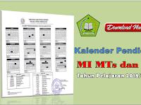 Download Kaldik Madrasah MI MTs dan MA Tahun Pelajaran 2018/2019