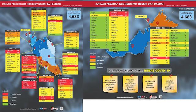 """Senarai Daerah Yang Masih """"Zero"""" Kes COVID-19 Di Malaysia"""