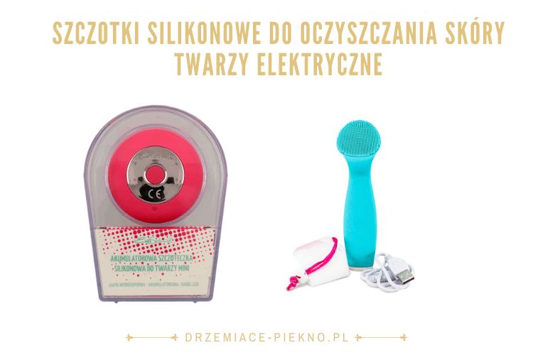 Szczotki silikonowe do oczyszczania skóry twarzy elektryczne