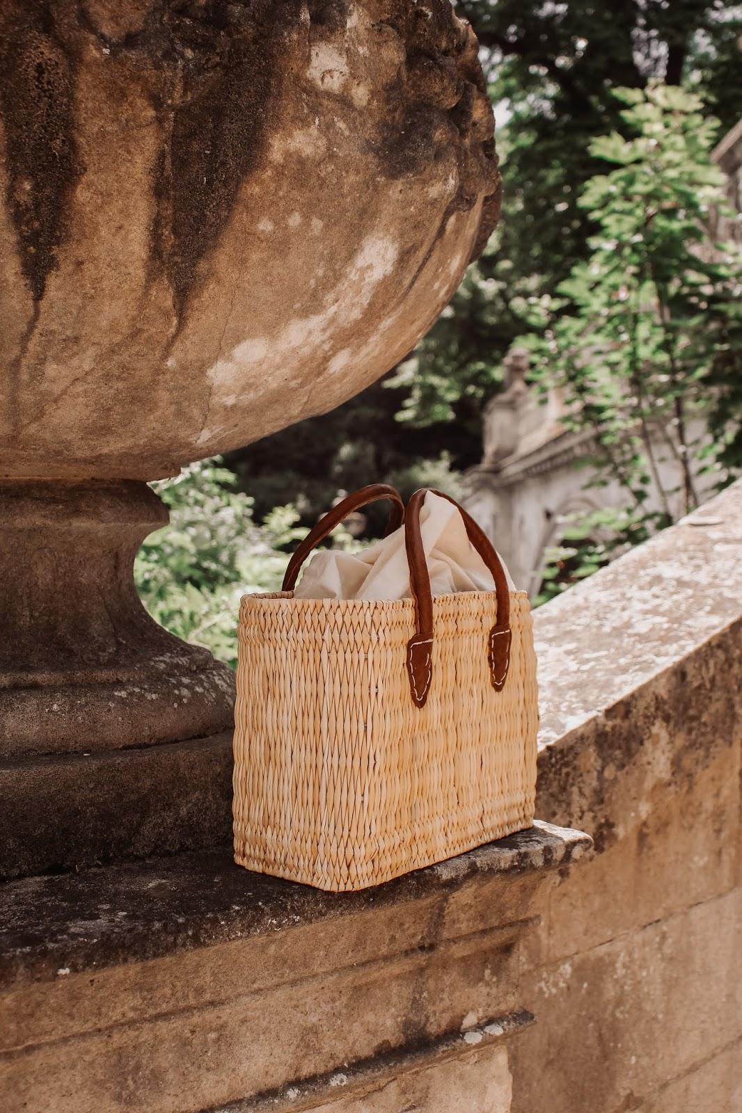 Small Straw Box Bag