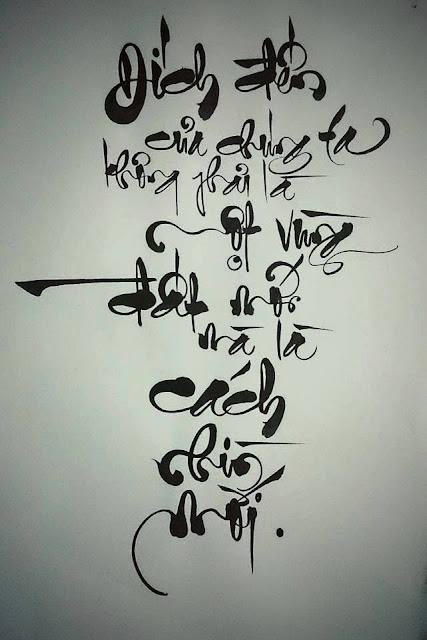 18 Câu thư pháp Việt Nam khiến bạn phải suy ngẫm