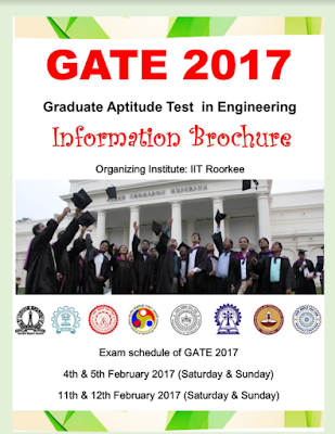 GATE Exam 2017 Entrance Examination Date Released Notification Apply Online Application Form @ gate.iitr.ernet.in