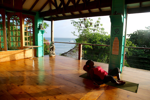 yoga next the sea, grenada, true blue bay resort