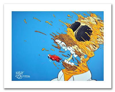 """Deconstructed Homer"" Giclee Fine Art Print by Matt Gondek x Silent Stage Gallery"