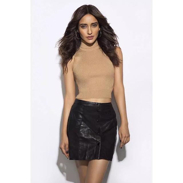 Neha Sharma Windswept Hairstyle