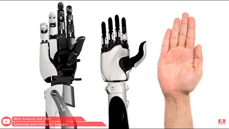 Control Robotic Hand using Myoware Muscle Sensor