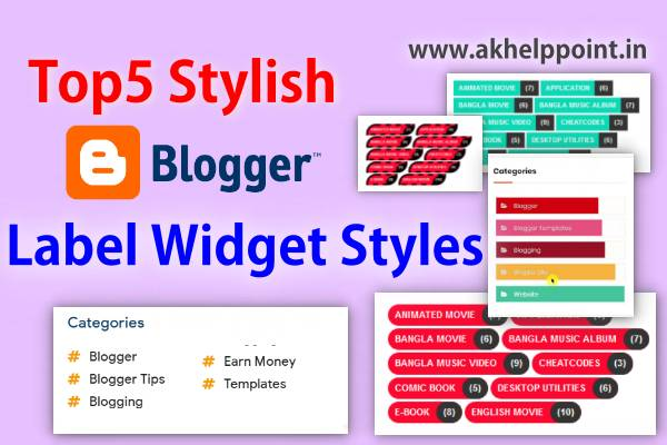 Top 5 Awesome Design Blogger Label Widget Style