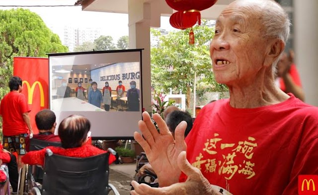 McDonald's Malaysia continues its annual tradition of spreading Chinese New Year cheer to senior citizens in a contact-free manner