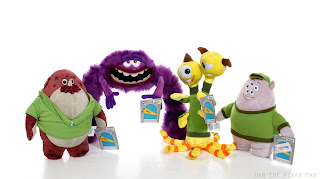 disney store monsters university plush toys