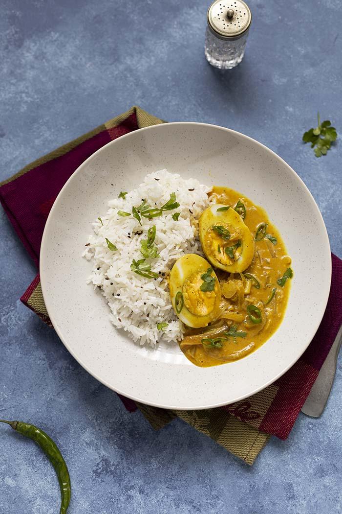 kuchnia indyjska curry z jajkiem