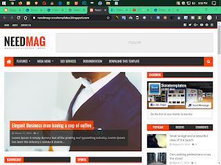 needmag premium version blogger template