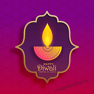 happy diwali diya image vector'
