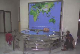 Membuat Display Museum Jalur pelayaran Samudra