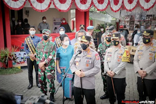 Kapolri Sigit, Kita Gelorakan Kampung Tangguh Balla Ewako putus Penyebaran Covid-19