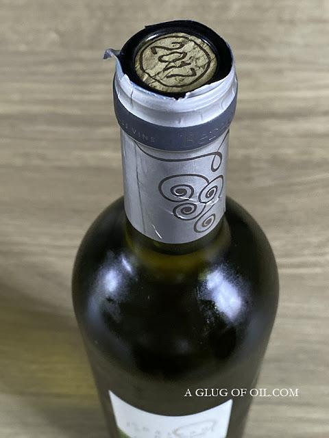 Cork in a wine bottle