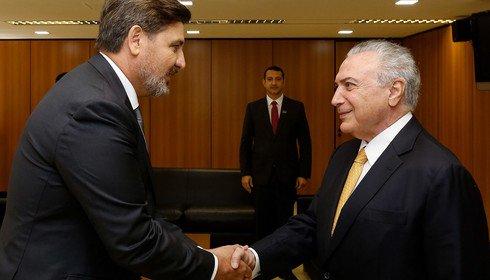 Temer se reúne com diretor-geral da PF no Planalto