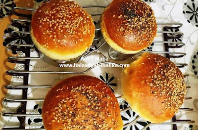 خبز البورغر خفيف ورائع