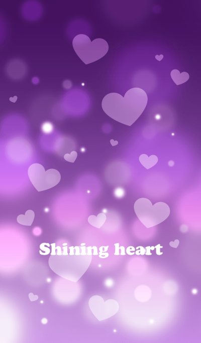 Shining heart(purple)