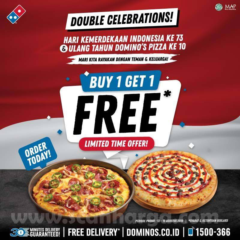 Harga Promo Domino S Pizza Terbaru 13 19 Agustus 2018 Katalog Promosi Katalog Promosi