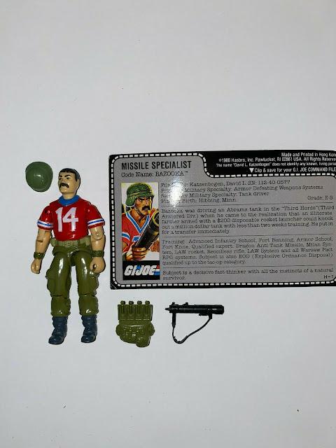 1985 White Number Bazooka Variant, Bagged, Mail Away