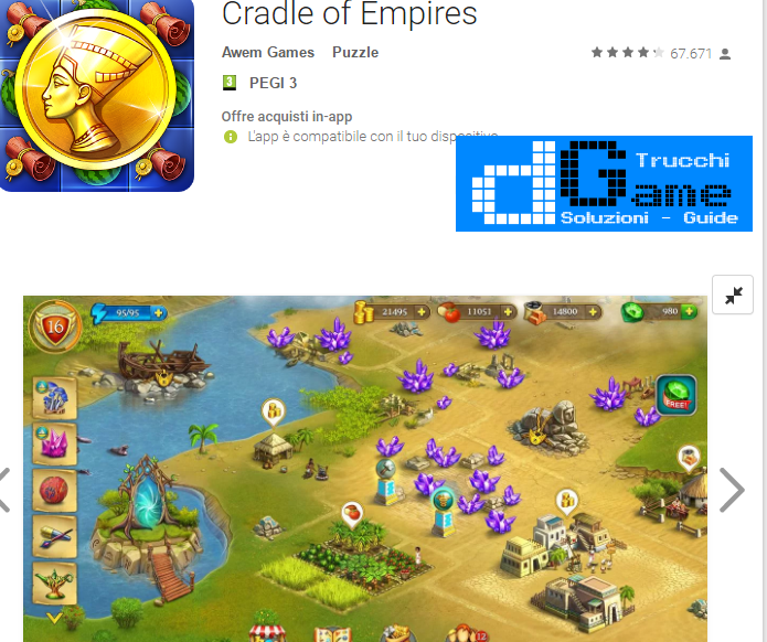 Trucchi Cradle of Empires Mod Apk Android 3.5.0