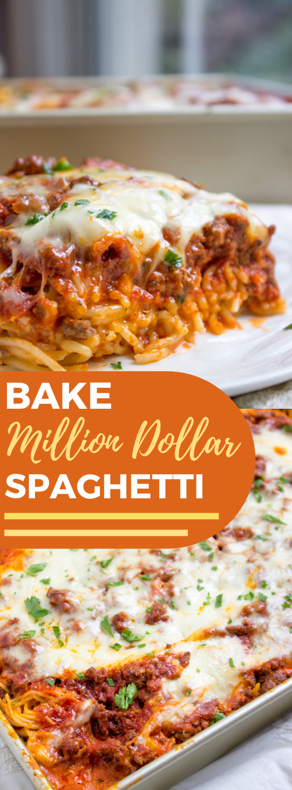 BAKED MILLION DOLLAR SPAGHETTI #Dinner #Recipe