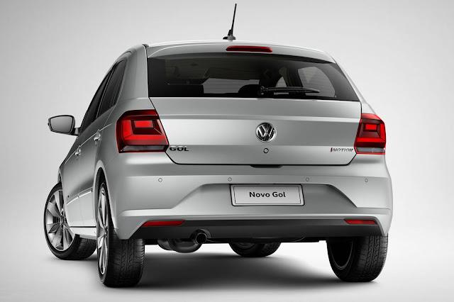 Novo VW Gol 2017 - traseira
