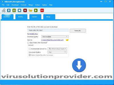 Allavsoft YouTue Downloader with Serial Key on Virus Solution Provider