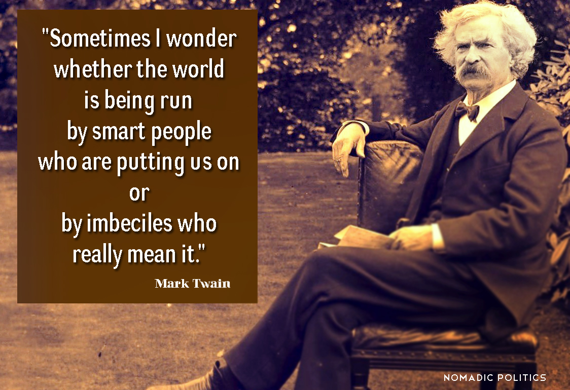 """mark twain writes about the american political process Autographs mark twain writes his famous friend, harper's weekly political cartoonist & illustrator, thomas nast samuel langhorne clemens, """"mark twain"""" (1835-1910) ) american author and hu."""