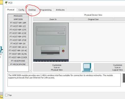 configurar computadora en Packet Tracer