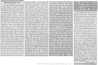 29 Sep 1899 Emancipation Day clipping from The Hartford (Kentucky) Republican, pg. 2, cols. 6-7.