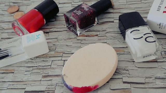 various bottles of nail polish