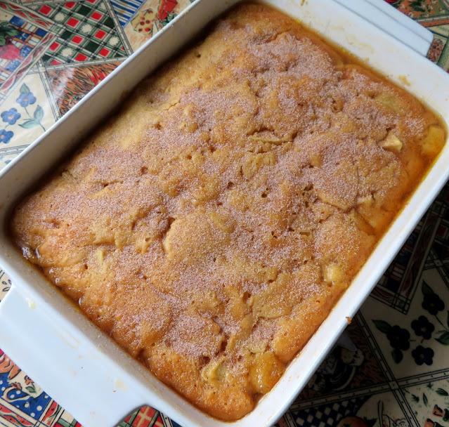 Caramel Apple Self-Saucing Pudding
