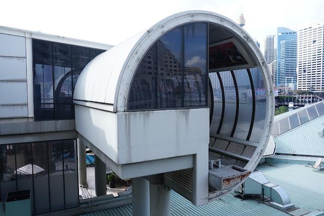 Abandoned Harborside Monorail Station exterior