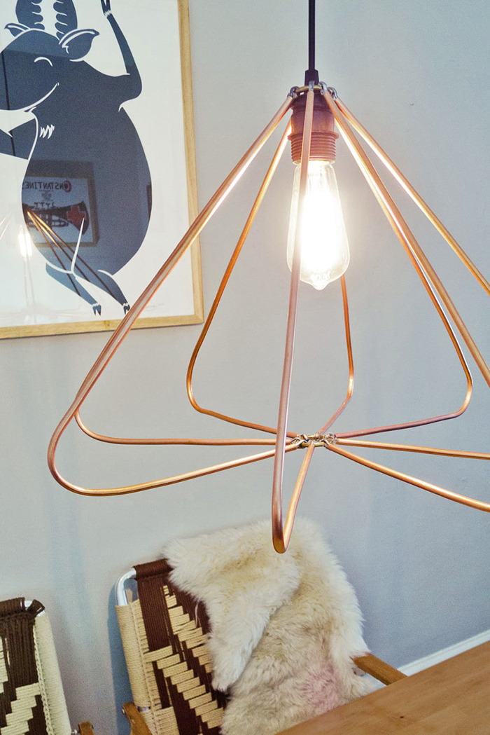 Diy to try himmeli pendant light ohoh blog diy copper pendant design milk mozeypictures Image collections