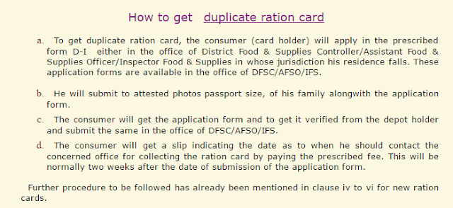 Duplicate Ration Card in Haryana